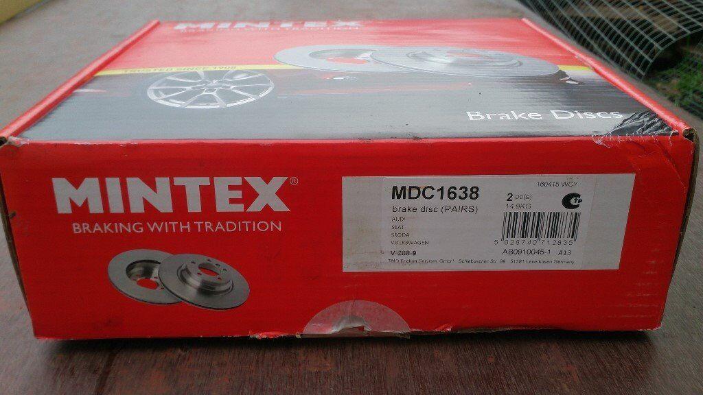Brand New Mintex Brake Discs (MDC1638) - Fits Audi, Seat, Skoda & Volkswagen