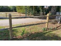 Chestnut fencing posts 2 rail