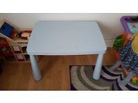 Light blue Ikea kids table
