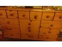 pine chest of draws .has 15 draws .