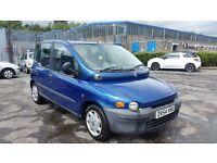 2004 (54 reg), Fiat Multipla 1.6 16v SX 5dr MPV £595 12 MONTHS MOT & 3 MONTHS WARRANTY