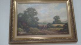 three Vincent Selby original oil on canvas