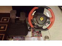 Ferrari wheel and pedals