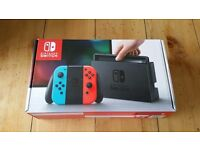 Nintendo Switch - Neon Red/Blue - Brand New with Proof of Purchase - Sold Out Everywhere!!