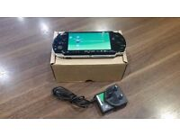 Sony PSP 3003 Series Slim and Lite Handheld Console (Black) & Charger.
