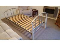 Single Bed (Frame only -sturdy modern style). Two beds, selling for £40 each.