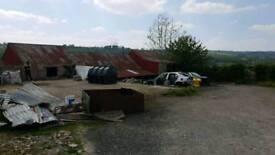 Storage and parking + garages +workshops