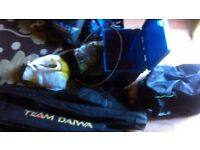 massive joblot of fishing tackle 7 rods 5reels box 'chair loads of tackle etc etc WIGAN AREA