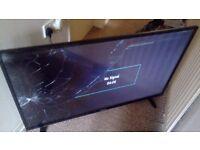 49 inch 4k tv cracked screen