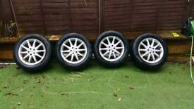 Mercedes 18 inch original alloy wheels with tyres