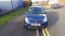 2008 Ford Fiesta 1.4 Zetec Blue Edition 5dr 56000 miles Manual Blue Economical Car