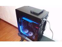New High Spec AMD Gaming PC - AMD Ryzen 5 1500x, Watercooled R9 Fury X Graphics card, SSD.