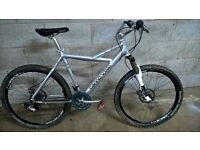 Cannondale adult size mountain bike, top spec £100 no offers