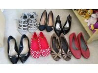 Seven pairs of ladies size 7 shoes - some new