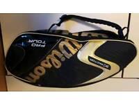 wilson tennis ncode, k factor 320g rackets and a bag