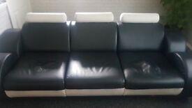Three seater Italian leather sofa