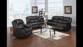 Brand new leather recliner sofas. 3 seater. 2 seater. 1 seater.