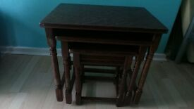 MAHOGANY 3 IN 1 TABLES- FOR SALE
