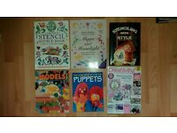 Job lot of craft magazines & books; stencilling, puppets & model making £1 each or £5 for the lot.