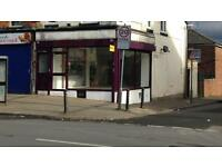 Shop to let to rent commercial cafe off licence, barber shop, takeaway estateagent business for sale