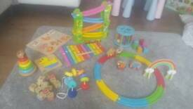 Large wooden toy bundle