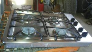 GE Profile Stainless Steel Glass Counter Top Gas Stove - Item#108
