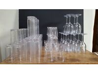 BBP Polycarbonate drink glasses - job lot