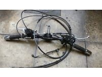 VeSpA GTS 300 2012 Handlebars / Complete / Brakes Throttle Speedo Cable / gt 125 gt 200 gts300