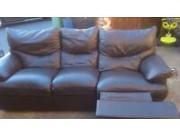Used leather recliner sofa