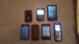 Bundle / Job Lot 7 mobile phones - spares and repairs