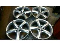 "GENUINE AUDI 19"" ALLOY WHEELS 5X112 A4 A5 A6 A7 A8 S4 Q3 RS C E VW GOLF TT RS PASSAT SHARAN"