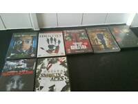 73 dvds all in good condition and working order, different genres 25.00 ono