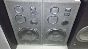 Audio Tech 3 Way Tower Speakers #52245 (JY110484)