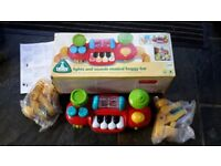ELC - Musical baby toy keyboard - lights & sounds buggy bar