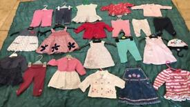 Baby girl 0/3 months + 3/6 months clothes