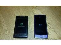 Sony Ericsson Xperia mini x? & LG working phones