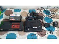 Sega Megadrive + Sega Master System inc. 4 games and 3 controllers