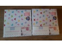 2 brand new unopened duvet cover and pillowcase single bed sets £7
