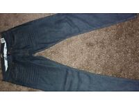 "Barbour international Comet Slim Jeans, Rinse & Resin 34""x32"""