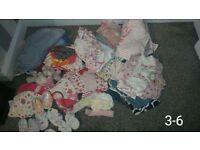 girls summer bundle 3-6 months