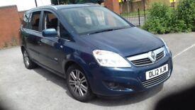 Vauxhall Zafira 2012 petrol 1.6 manual low mileage