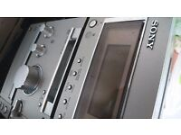 Sony system with 2 speakers( very good quality and sound)