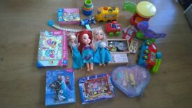 A variety of child/toddler toys