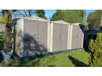 Keter 6x6 Plastic Shed - 3 available for collection near Gatwick/Crawley