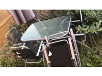 6 garden table and chair set ( with parasol)