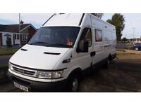 4 berth campervan professionally converted by Mulberry, with rear garage suitable for karting