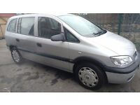 2003 Automatic Vauxhall Zafira 1.8 Petrol With Full Service History and Long MOT&Low Millage