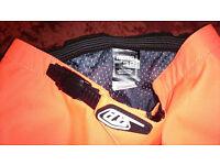 Moto Motorbike Shorts (Troy Lee Design) - Orange - Brand New