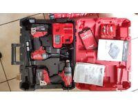 Brand NEW Milwaukee 18V Li-Ion Brushless Cordless Hammer Drill Impact Driver 2 x RC 5.0 Battery