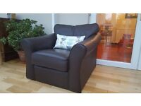 M&S leather armchair in good condition